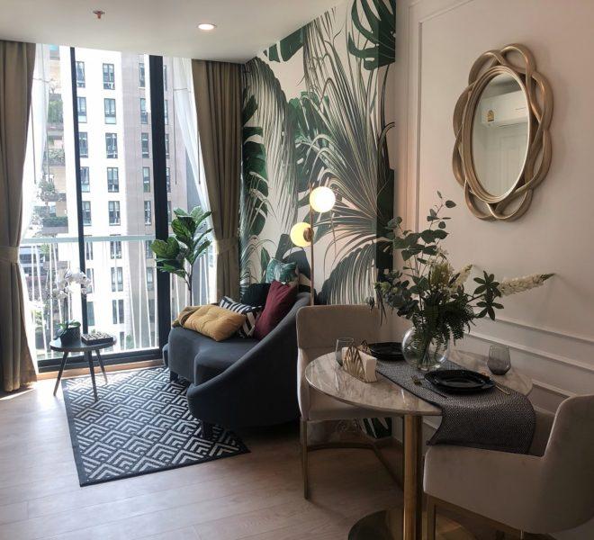 Condo for rent on Sukhumvit 19 - 1 bedroom - low-floor - Noble Recole Sukhumvit 19