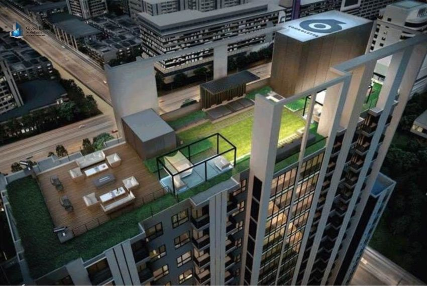 Condolette Midst Rama 9 Condominium near Rama 9 MRT - rooftop