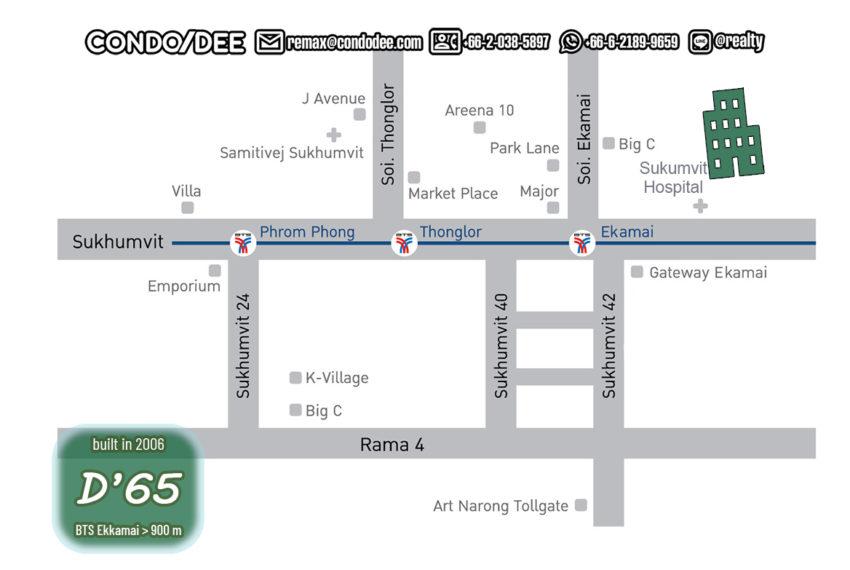 D 65 condo - map