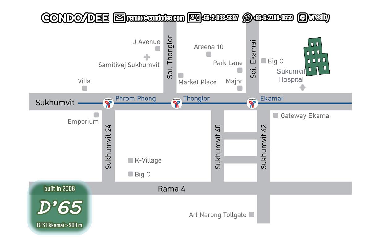 D 65 Condominium Near BTS Ekkamai
