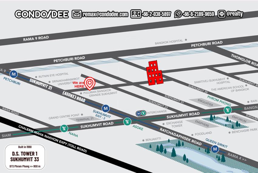 DS Tower 1 condominium - map