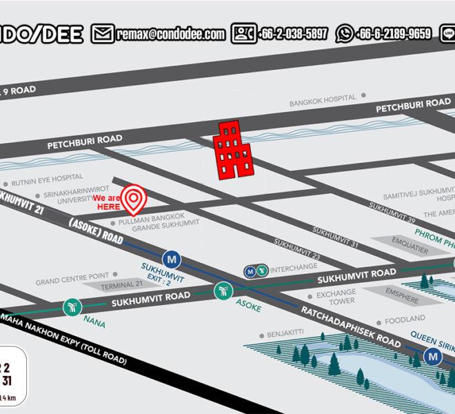 DS Tower 2 Sukhumvit 39 condo - map