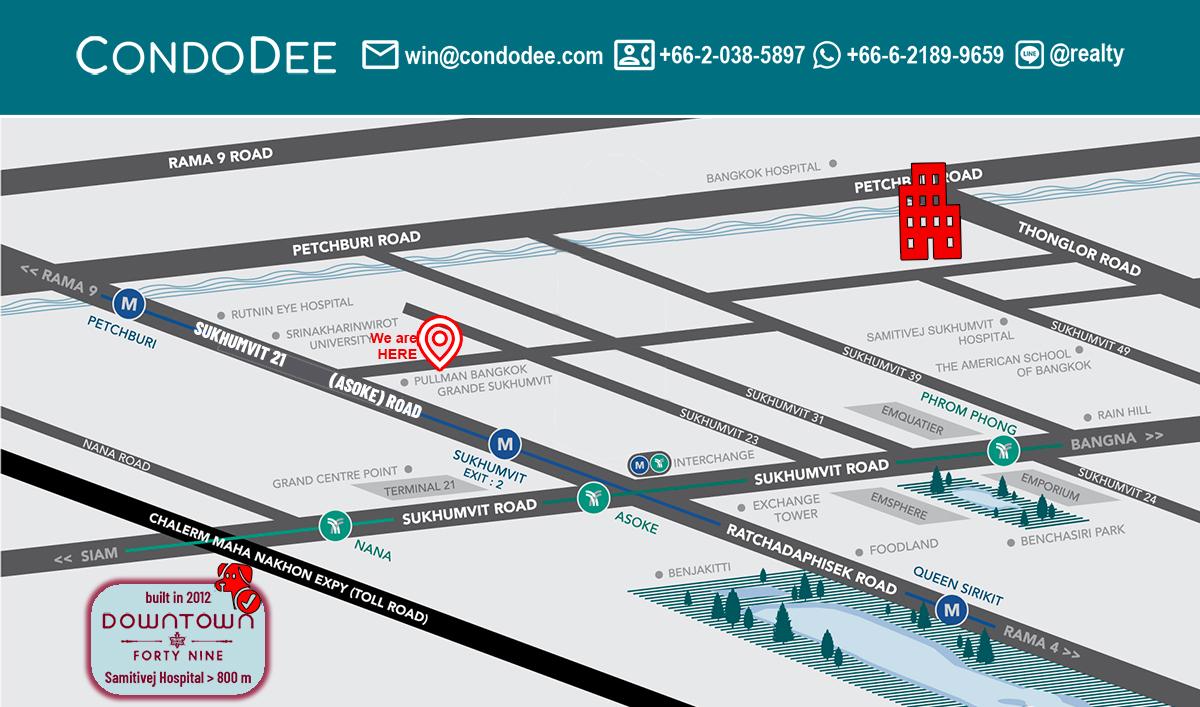 Downtown 49 Bangkok Pet-Friendly Condominium in Sukhumvit 49
