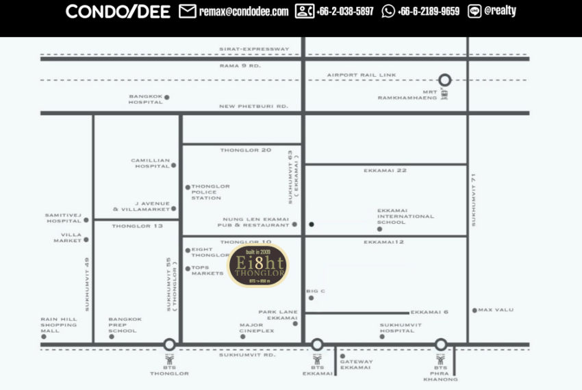 Eight Thonglor Residences - map