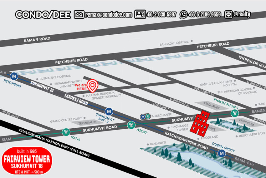 Fairview Tower - map
