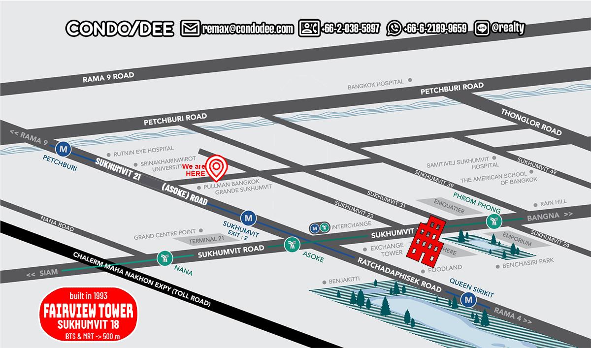 Fairview Tower Condominium in Sukhumvit 18