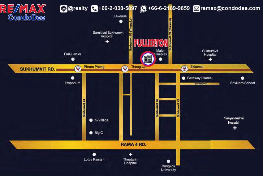 Fullerton condominium - map