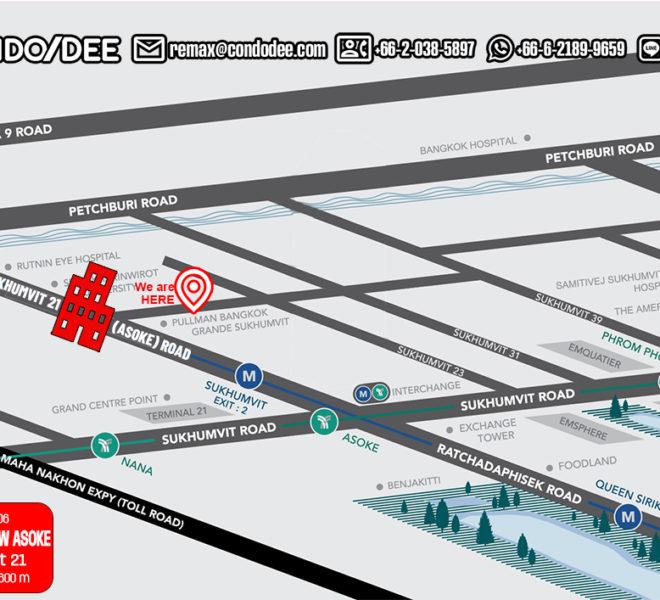 Grand Park View Asoke condo - map