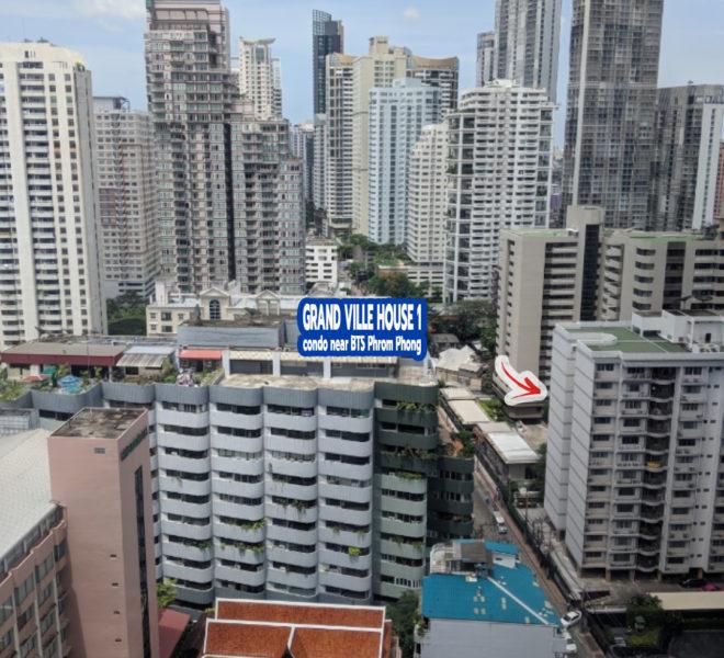 Grand Ville House 1 condominium at Sukhumvit 24 near BTS Phrom Phong
