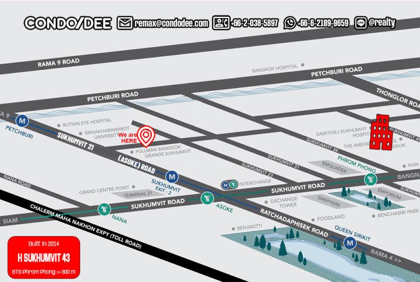 H Sukhumvit 43 condo - map