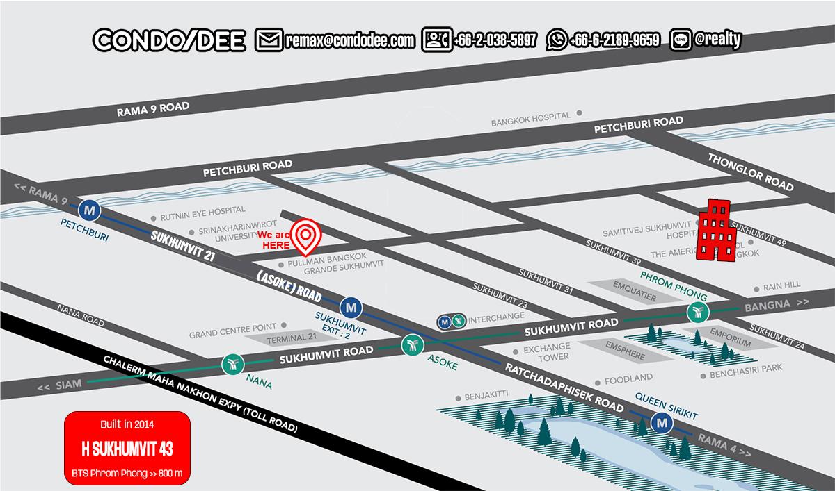 H Sukhumvit 43 Condominium Near BTS Phrom Phong