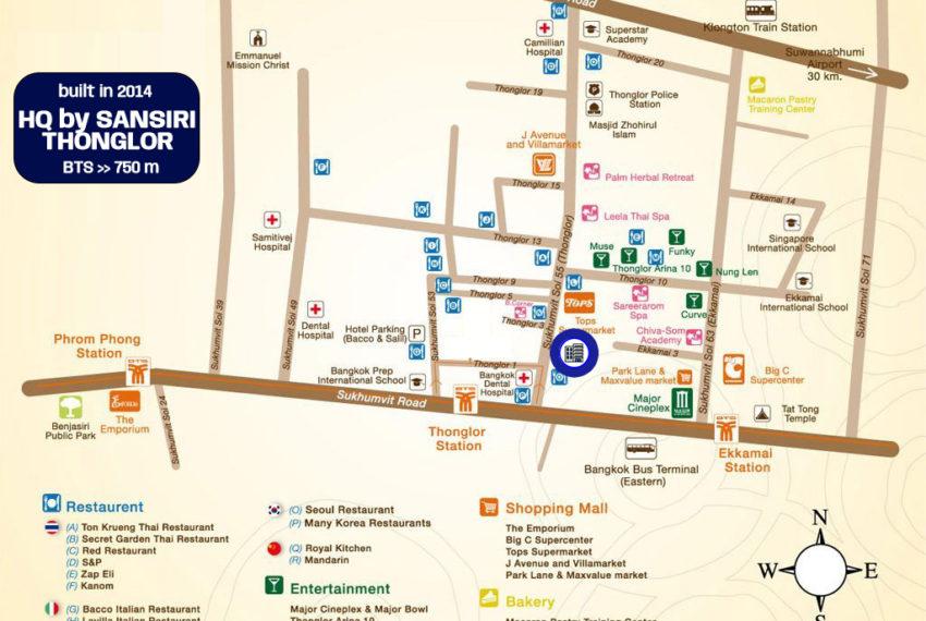 HQ Thonglor by Sansiri condo - map