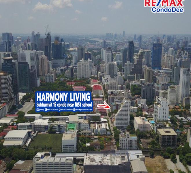 Harmony Living Sukhumvit 15 Low-Rise Condominium in Asoke Near NIST School