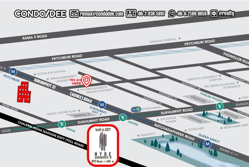 Hyde Sukhumvit 11 condo - map