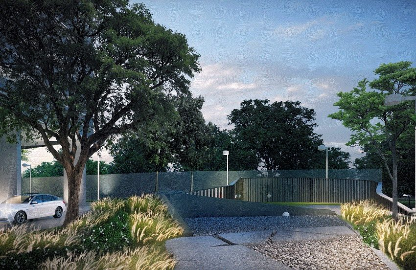 IDEO Mobi Asoke Condo - garden