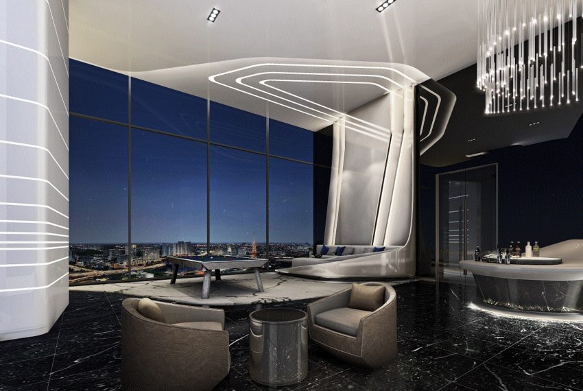 IDEO Mobi Asoke Condo - lounge