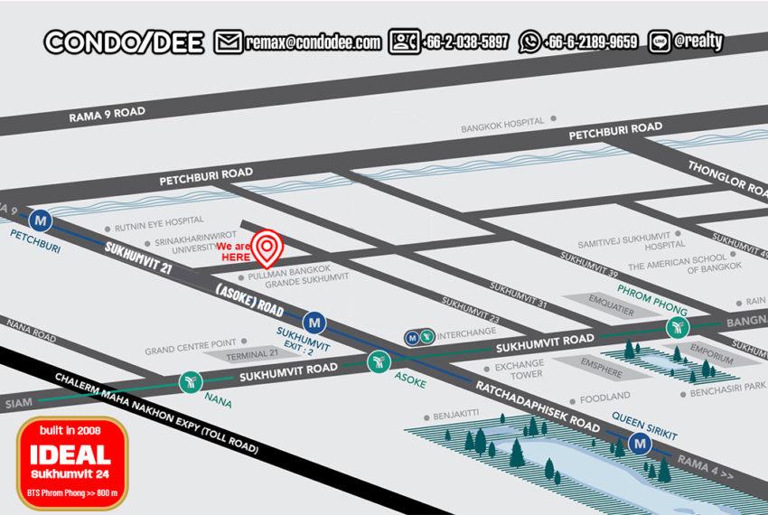 Ideal 24 condominium - map