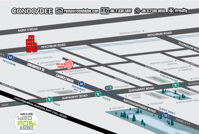 Ideo Mobi Asoke Condo - map