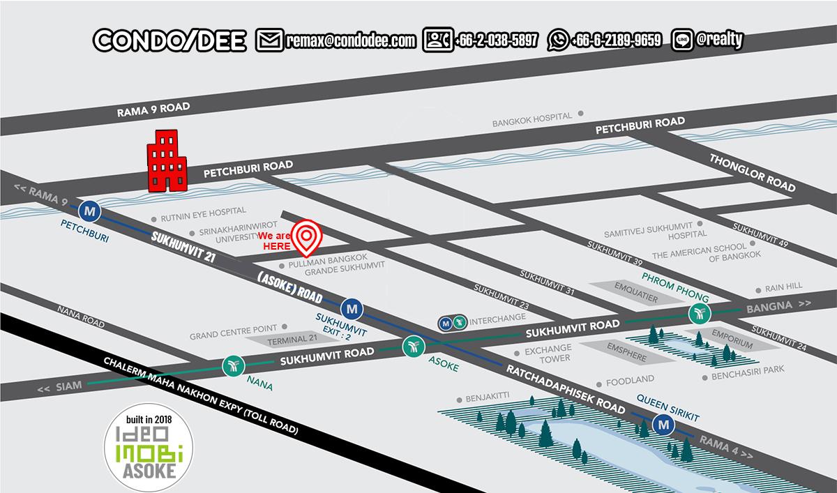 Ideo Mobi Asoke Condominium New University, MRT and Airport Rail Link