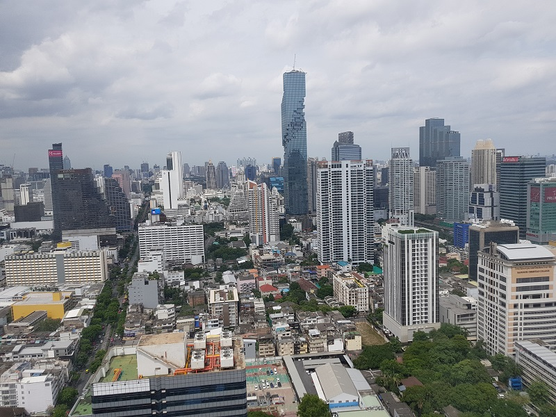 ... Jewelry Trade Center Bangkok view from window 2 ...