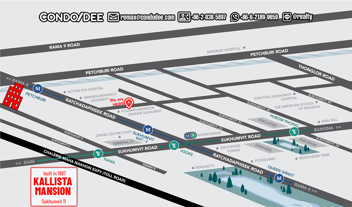 Kallista Mansion Pet-Friendly Condominium at Sukhumvit soi 11 Near Channel