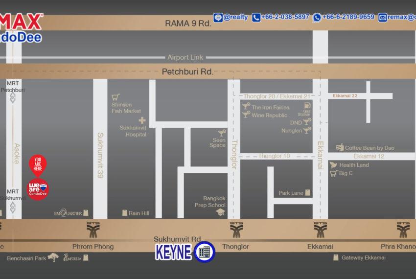 Keyne by Sansiri condo - map