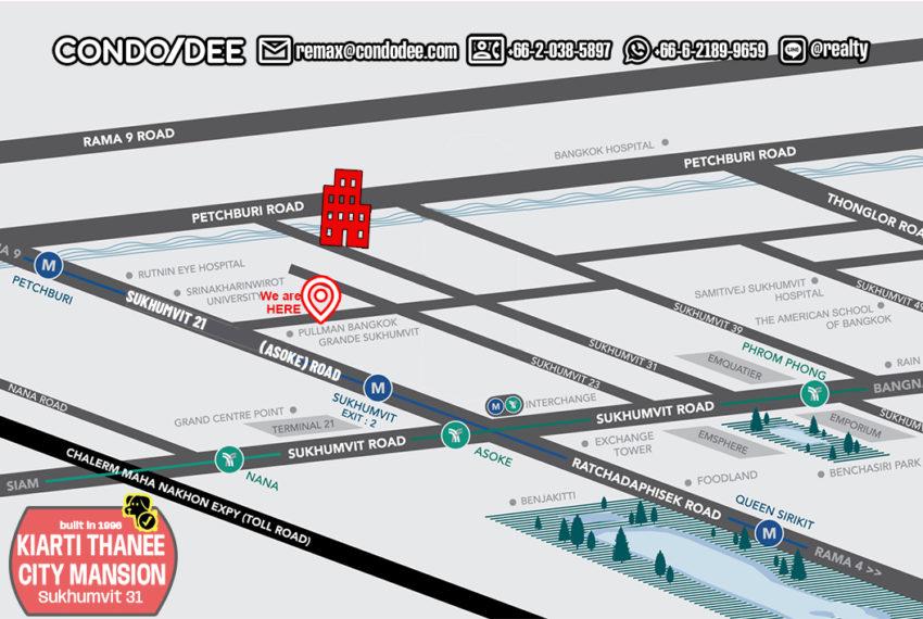 Kiarti Thanee City Mansion condo - map