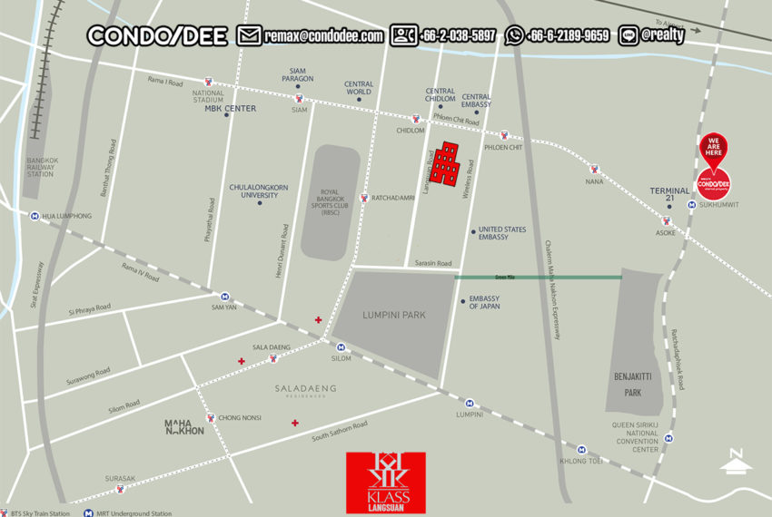 Klass Langsuan condominium - map