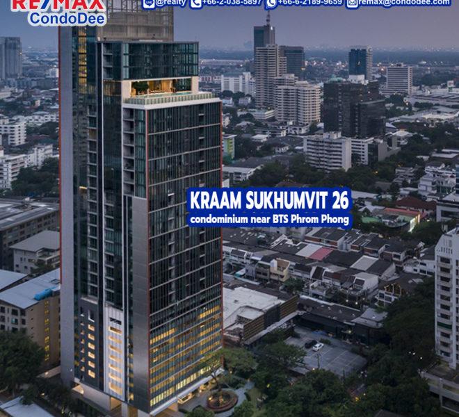 Kraam Sukhumvit 26 Condominium Near BTS Phrom Phong