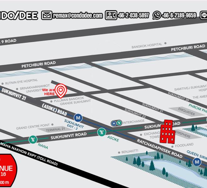 Lake Avenue condo - map