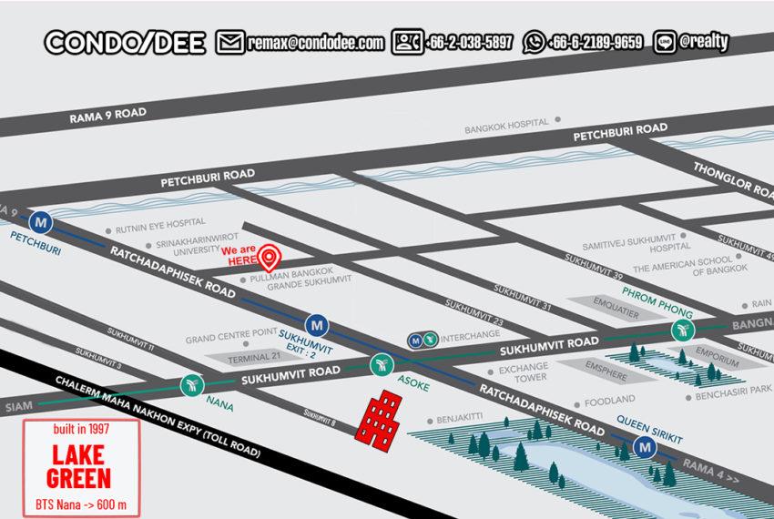 Lake Green condo - map