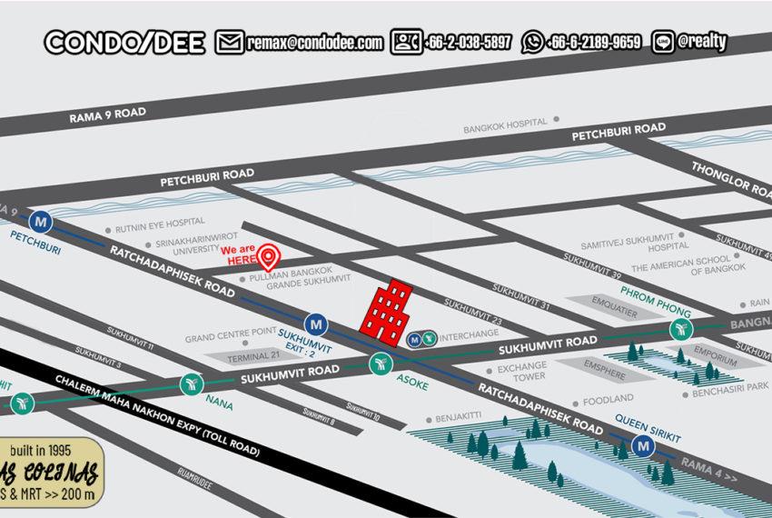 Las Colinas condo- map