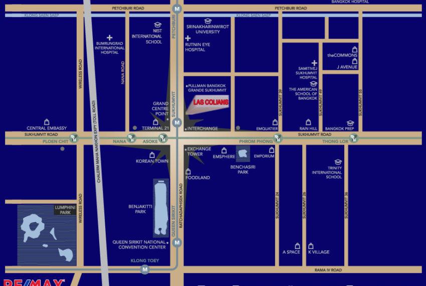 Las Colinas condominium - map REMAX CondoDee