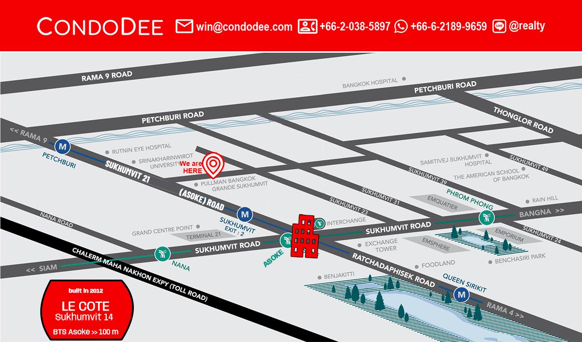 Le Cote Sukhumvit 14 Bangkok Condo Near BTS Asoke