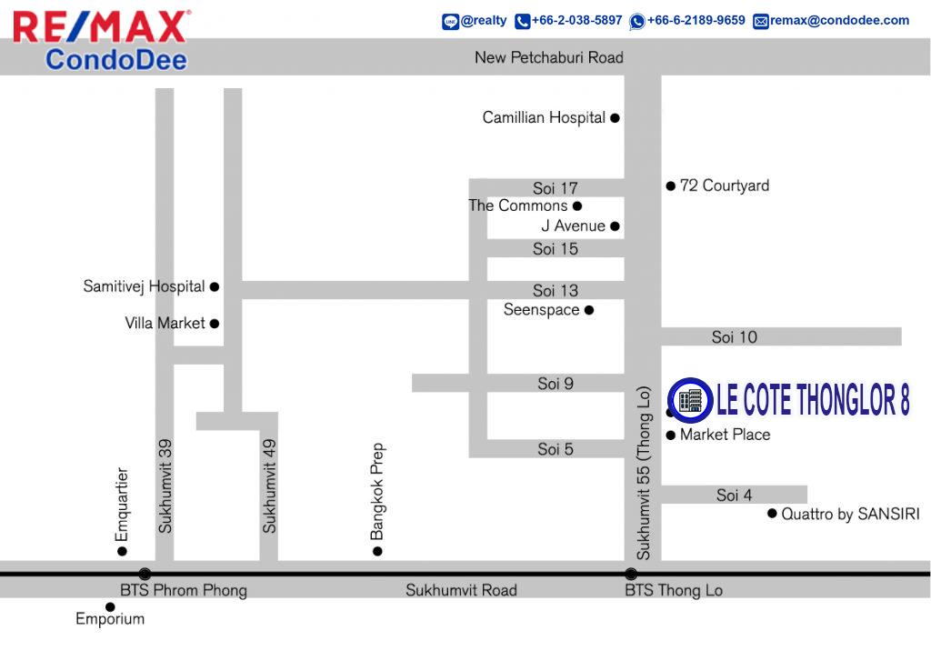 Le Cote Thonglor 8 Bangkok Condominium Near BTS Thong Lo