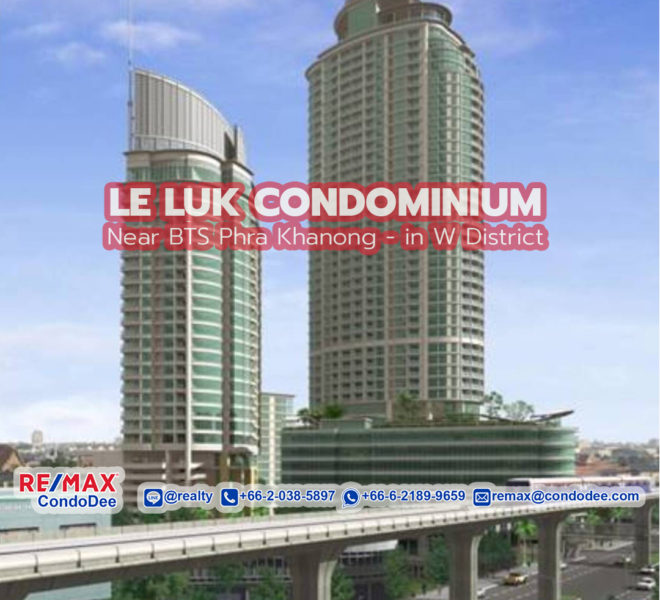 Le Luk Condominium Near BTS Phra Khanong in W District