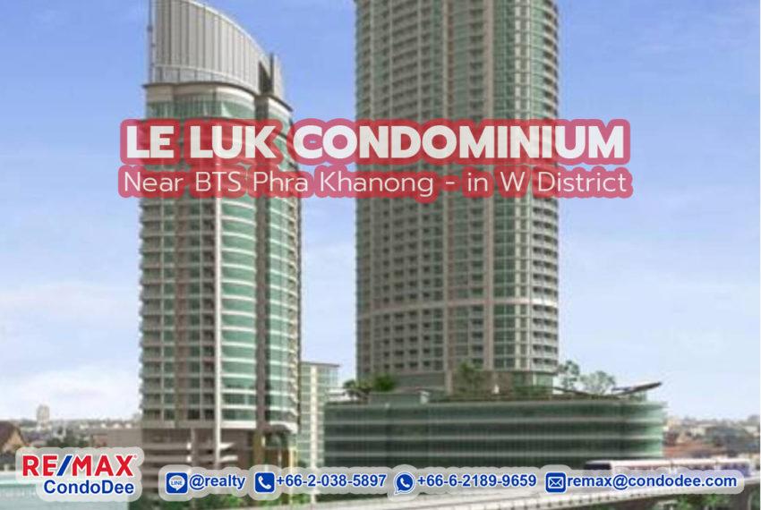 Le Luk Condominium by REMAX CondoDee