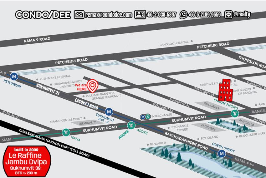 Le Raffine 39 condo - map