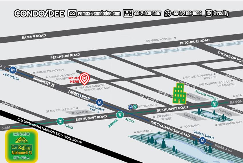Le Raffine Jambunuda Sukhumvit 31 condo - map