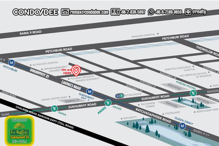 Le Raffine Sukhumvit 24 - map