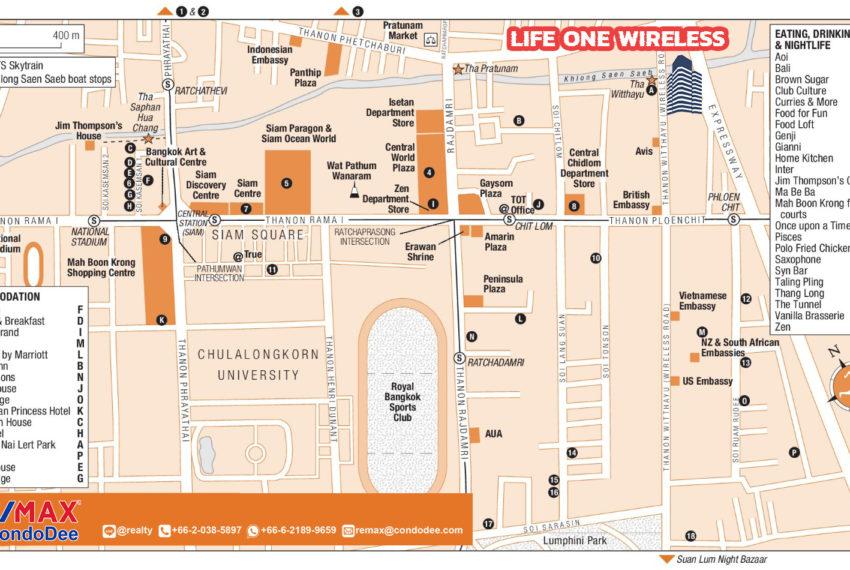 Life One Wireless condo - map