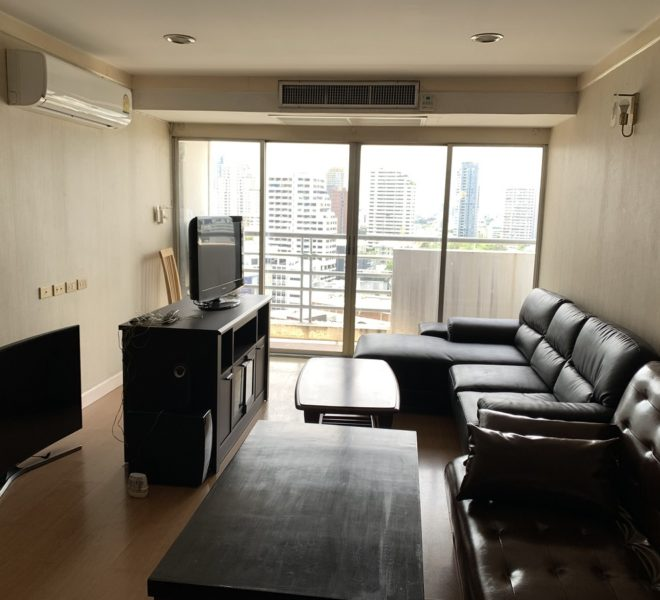 Condo in Prompong on mid-floor for sale - 2-bedroom - 2 balconies - Waterford Diamond Tower