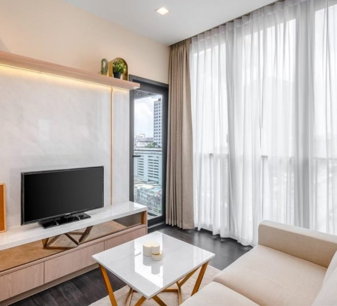 Condo for sale with tenant near MRT Rama 9 - 1-bedroom - mid-floor - The Line Asoke-Ratchada