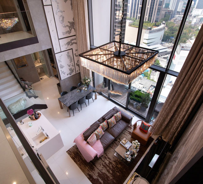 Luxury duplex condo for sale in Prompong - 2 bedroom - 1 study room - high floor - Vittorio 39