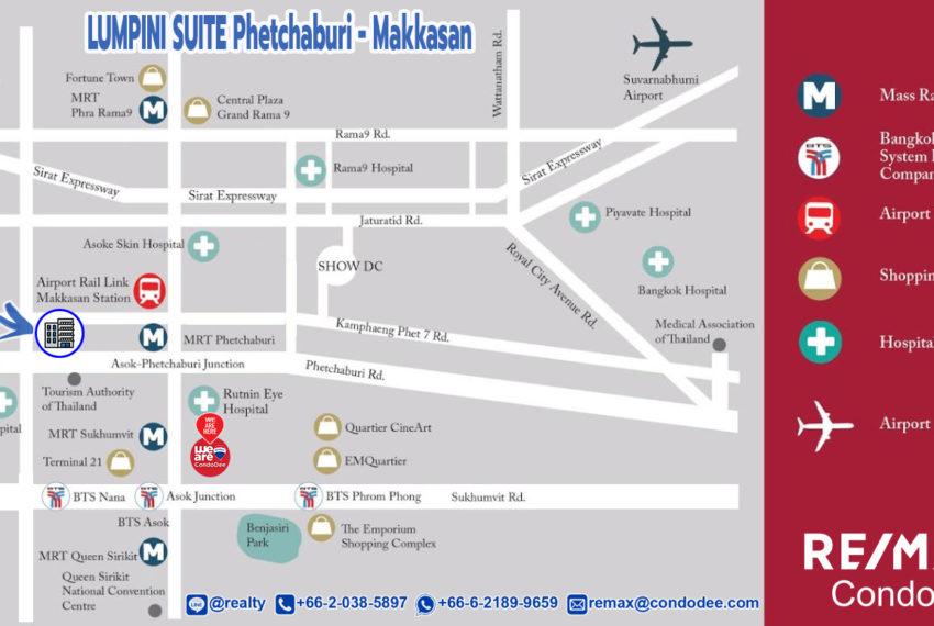 Lumpini Suite Phetchaburi - Makkasan - map