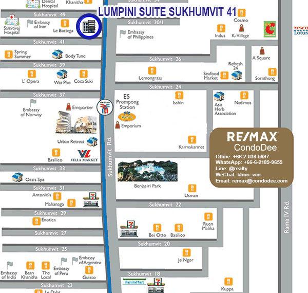 Lumpini Suite Sukhumvit 41 - map
