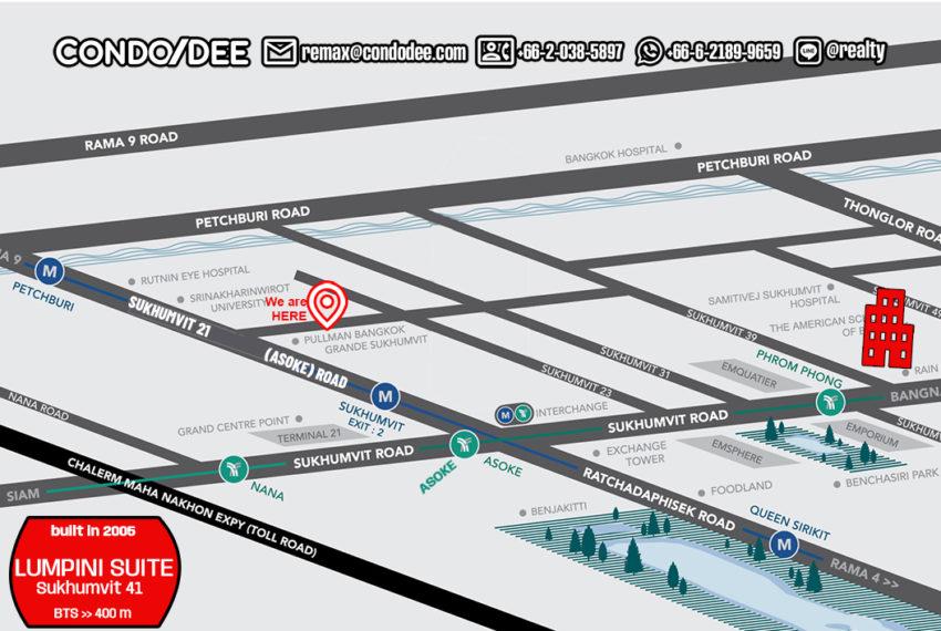 Lumpini Suite Sukhumvit 41 - map new