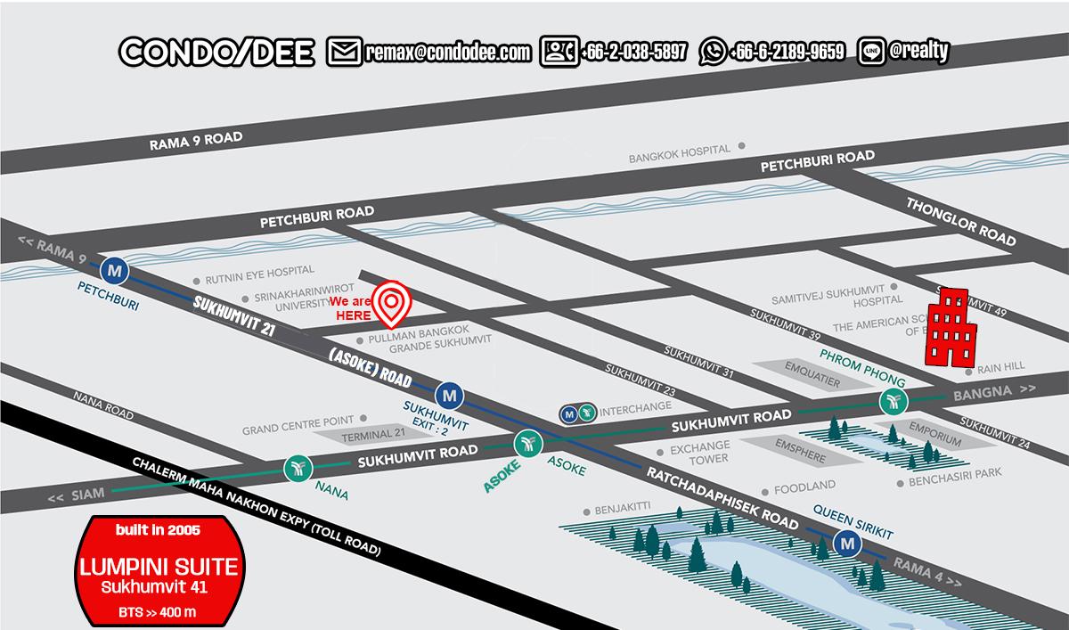 Lumpini Suite Sukhumvit 41 Bangkok Condo Near BTS Phrom Phong