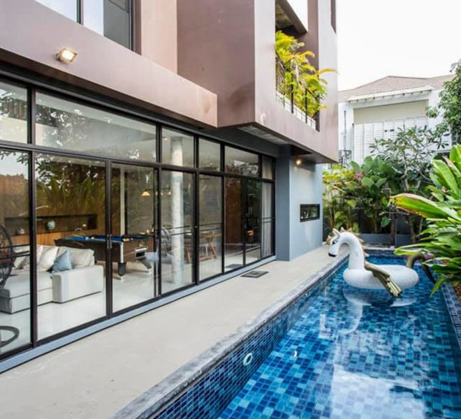 Luxury pool villa for rent at Thonglor 13 - 3-Story - 4-Bedroom