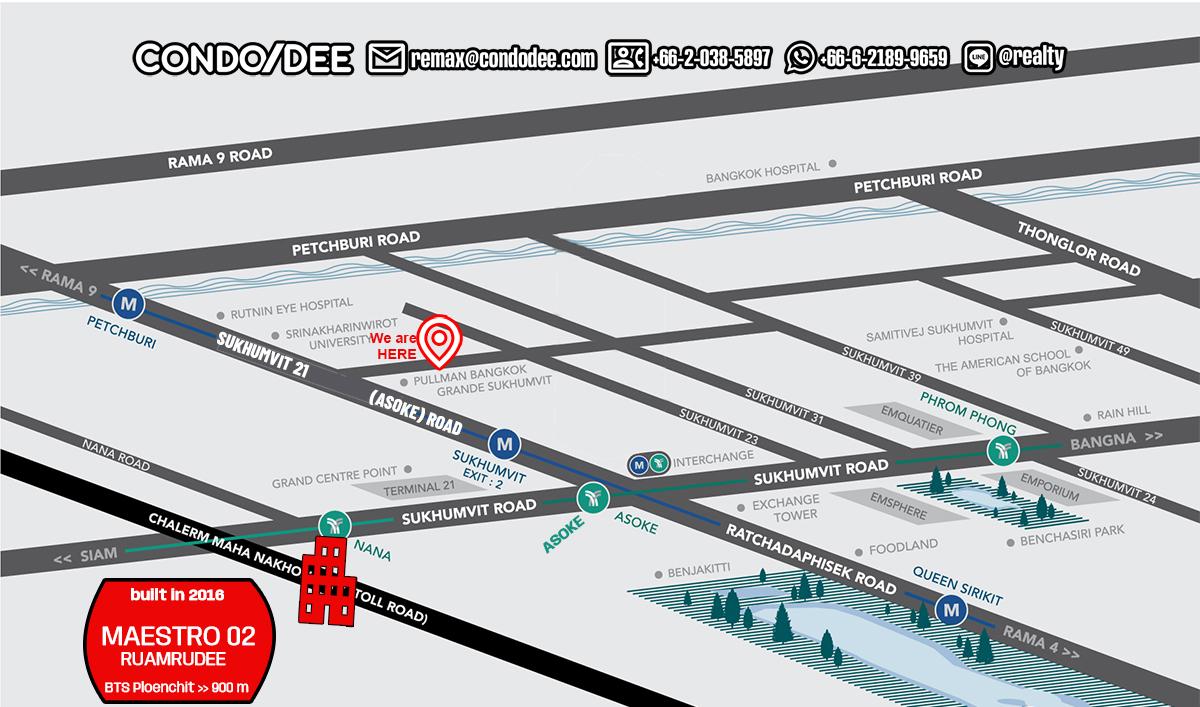 Maestro 02 Ruamrudee - Bangkok Condo Near BTS Ploenchit